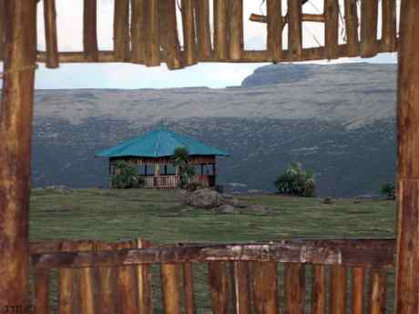 Lookout on the Simian mountain in North Ethiopia