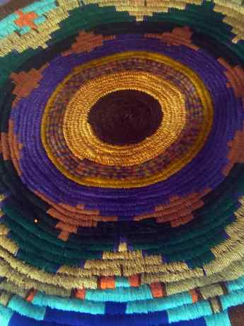 wool basket made from the Washingtonia palm